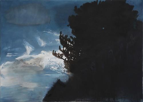 Berit Mücke Augendiagnose Baum Anriss 50 x 70 cm Leinwand