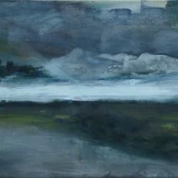Berit Mücke Fluss Landschaft Horizont 2013