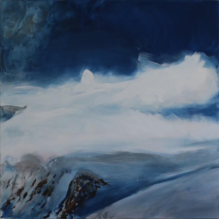 Berit Mücke Malerei Höhe Landschaft Schnee 2015