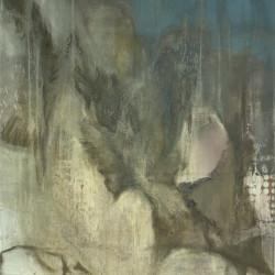 Felsentrost  170 x120 Öl Acryl Tempera Leinwand 2014
