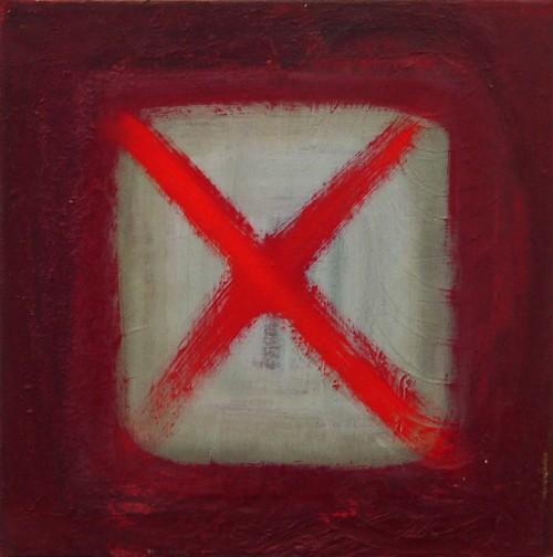 Kreuz 40 × 40 TemperaOelLwd2012